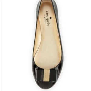 Kate Spade Patent Bow Leather Flats